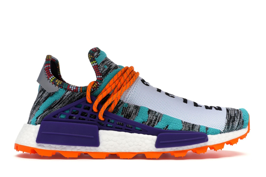 アディダス ADIDAS スニーカー 【 NMD HU PHARRELL SOLAR PACK ORANGE WHITE BLACK 】 メンズ 送料無料