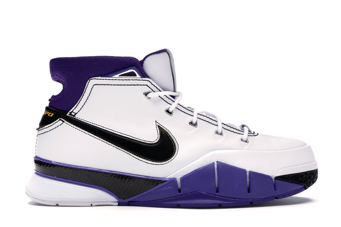 ナイキ NIKE コービー スニーカー 【 KOBE 1 PROTRO 81 PT GAME WHITE BLACKVARSITY PURPLE 】 メンズ