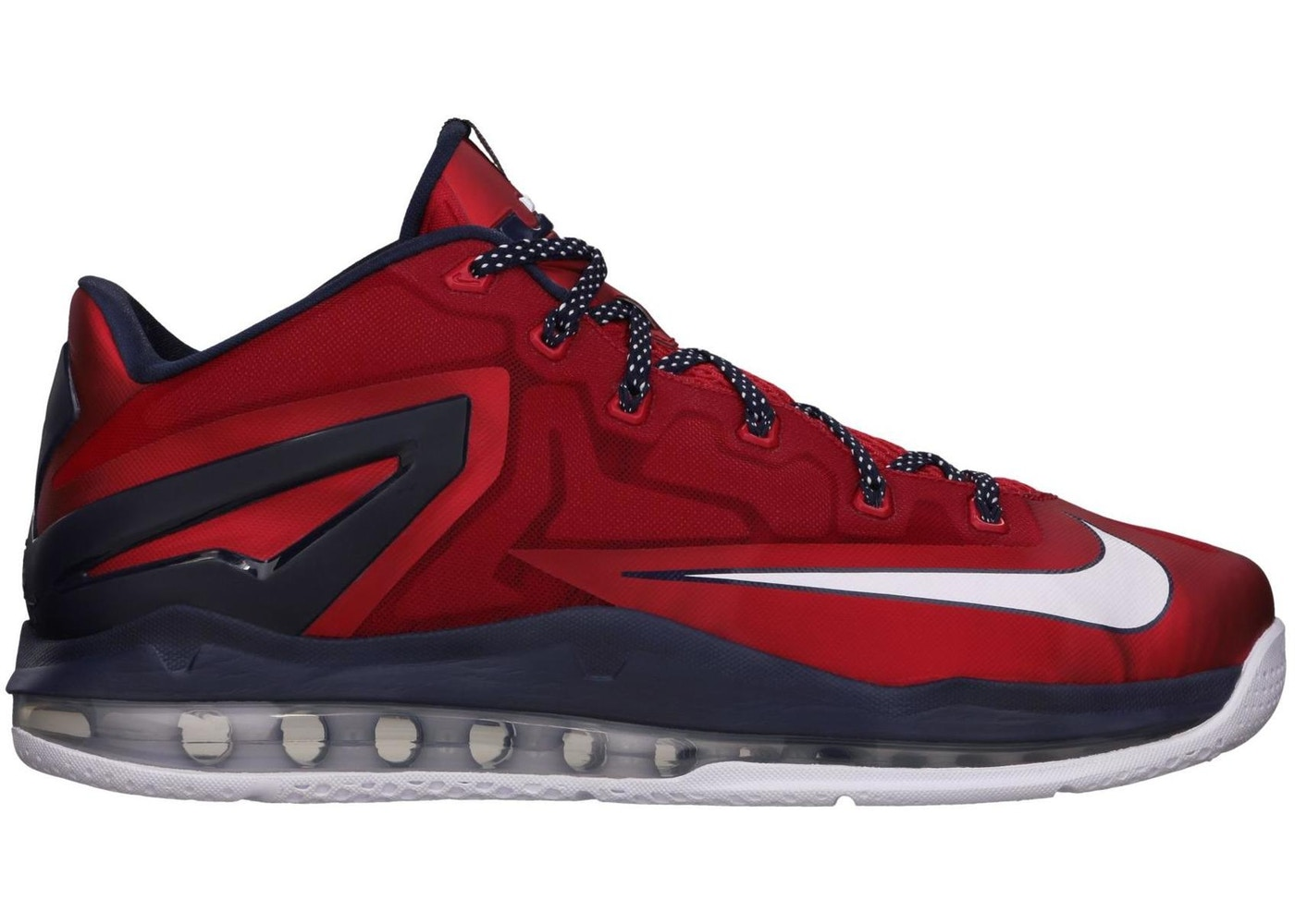 ナイキ NIKE レブロン スニーカー 【 LEBRON 11 LOW INDEPENDENCE DAY UNIVERSITY RED WHITEOBSIDIAN 】 メンズ