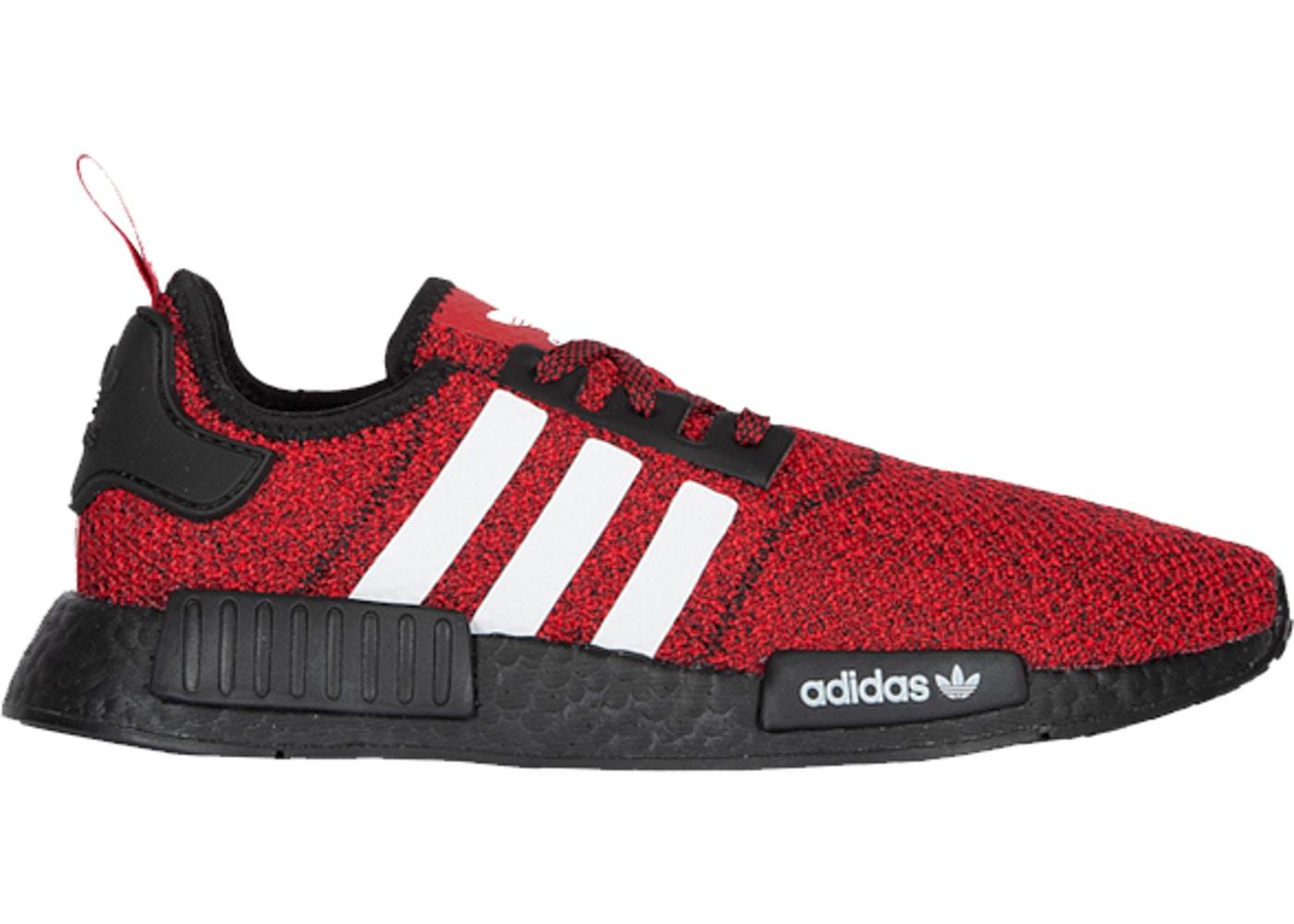 RED WHITE NMD R1 CARBON BLACK FOOTWEAR