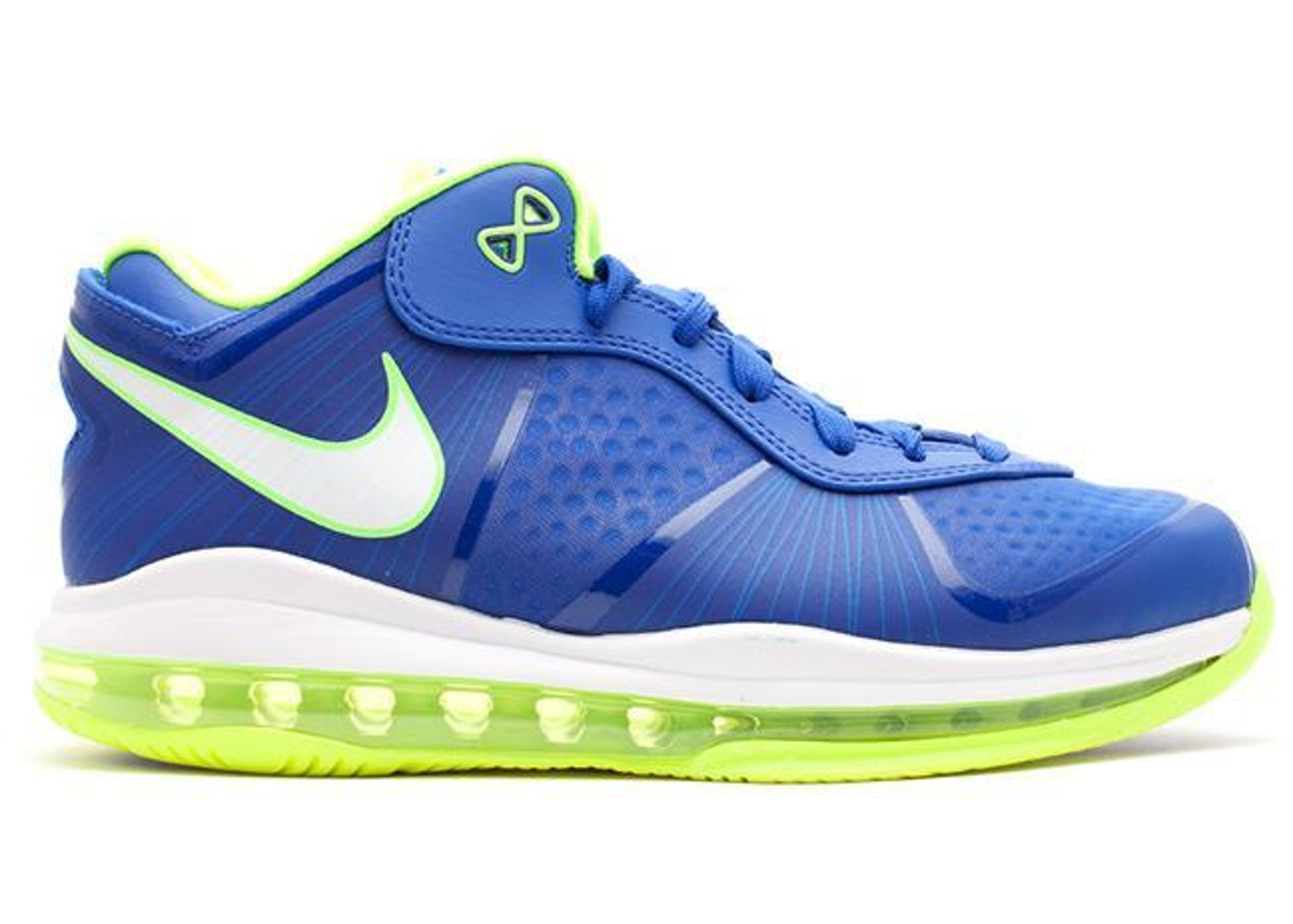 ナイキ NIKE レブロン スニーカー 【 LEBRON 8 V 2 LOW SPRITE TREAURE BLUE WHITEBLACKVOLT 】 メンズ