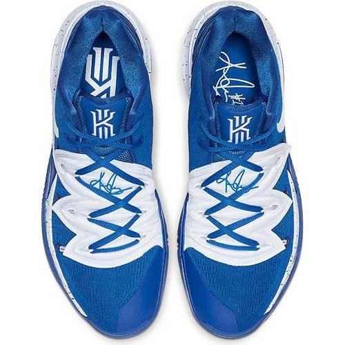 ナイキ NIKE カイリー バスケットボール スニーカー 運動靴 青 ブルー 白 ホワイト スニーカー 【 KYRIE BLUE WHITE NIKE 5 BASKETBALL SHOES 】 メンズ スニーカー