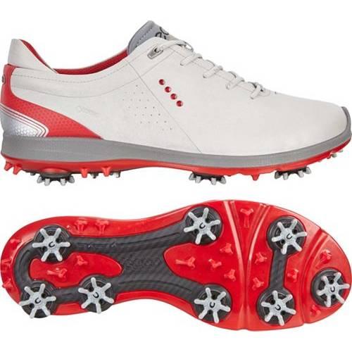 エコー ECCO メンズ フリー ゴルフ スニーカー 運動靴 【 Mens Biom G 2 Free Gtx Golf Shoes 】 Concrete/scarlet