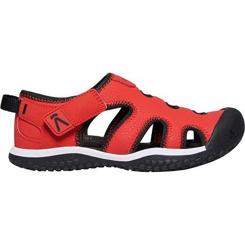KEEN KIDS' 【 STINGRAY SANDALS BLACK FIERY RED 】 キッズ ベビー マタニティ