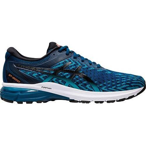 アシックス ASICS メンズ ニット スニーカー 運動靴 【 Mens Gt-2000 8 Knit Running Shoes 】 Blue/black