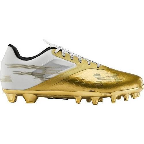 アンダーアーマー UNDER ARMOUR メンズ スニーカー 【 Mens Blur Lux Le Mc Football Cleats 】 Gold/white