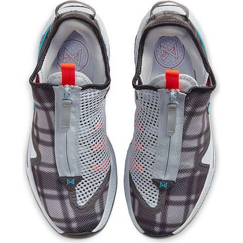 ナイキ NIKE バスケットボール スニーカー 運動靴 灰色 グレ 青 ブルー 白 ホワイト スニーカー 【 BLUE WHITE NIKE PG4 BASKETBALL SHOES GREY 】 メンズ スニーカー