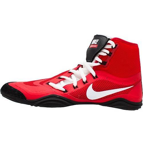 ナイキ NIKE スニーカー 運動靴 赤 レッド 白 ホワイト MEN'S スニーカー 【 RED WHITE NIKE HYPERSWEEP WRESTLING SHOES 】 メンズ スニーカー