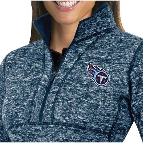 【★スーパーセール中★ 6/11深夜2時迄】ANTIGUA レディース テネシー タイタンズ 紺 ネイビー 【 Womens Tennessee Titans Fortune Navy Pullover Jacket 】 Color