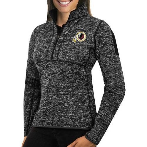 【★スーパーセール中★ 6/11深夜2時迄】ANTIGUA レディース ワシントン レッドスキンズ 黒 ブラック 【 Womens Washington Redskins Fortune Black Pullover Jacket 】 Color