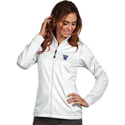 【★スーパーセール中★ 6/11深夜2時迄】ANTIGUA レディース ビラノバ 白 ホワイト パフォーマンス ゴルフ 【 Womens Villanova Wildcats White Performance Golf Jacket 】 Color