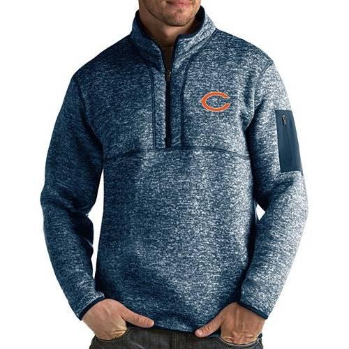 ANTIGUA メンズ シカゴ ベアーズ 紺 ネイビー メンズファッション コート ジャケット 【 Mens Chicago Bears Fortune Navy Pullover Jacket 】 Color