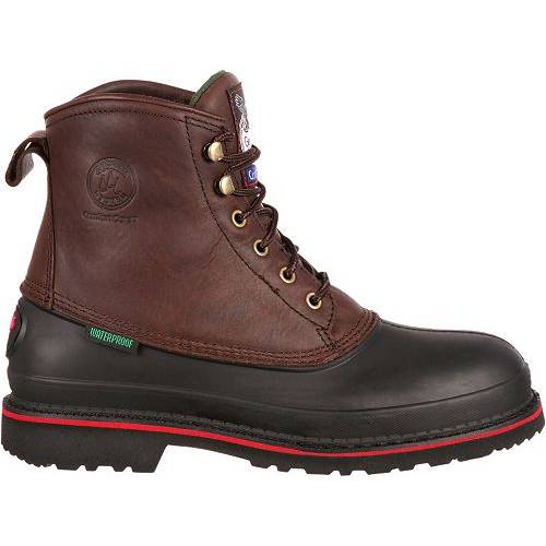 GEORGIA BOOTS ブーツ メンズ 銀色 スチール 【 Georgia Boot Mens Muddog Eh Waterproof Steel Toe Work Boots 】 Dark Chocolate