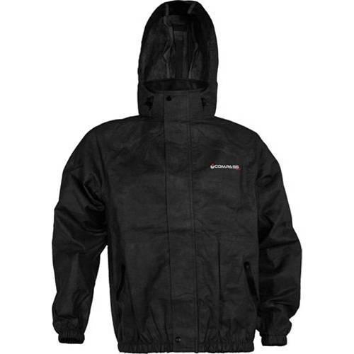 COMPASS 360 メンズ メンズファッション コート ジャケット 【 Mens Advantagetek T50 Rain Jacket 】 Black