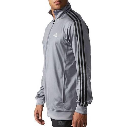 アディダス ADIDAS メンズ トラック メンズファッション コート ジャケット 【 Mens Big And Tall Essentials Track Jacket (regular And Big And Tall) 】 Gray/black