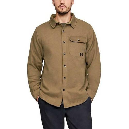 アンダーアーマー UNDER ARMOUR メンズ フリース メンズファッション コート ジャケット 【 Mens Buckshot Button Up Fleece Jacket 】 Coyote Brown