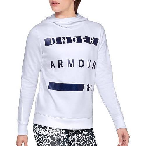 アンダーアーマー UNDER ARMOUR レディース フリース レディースファッション トップス パーカー 【 Womens Armour Fleece Hoodie 】 White
