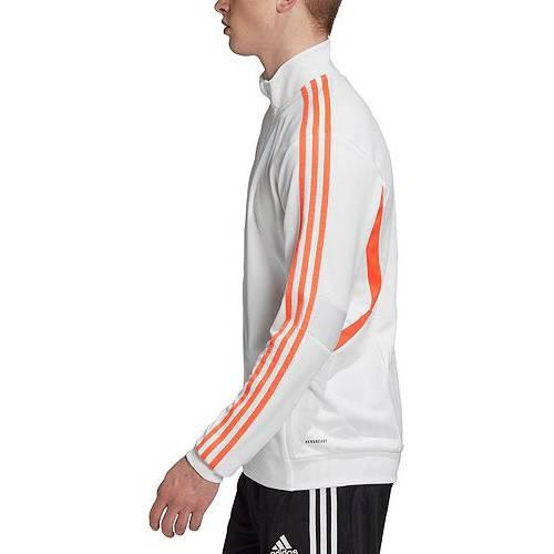 アディダス ADIDAS メンズ サッカー トレーニング メンズファッション コート ジャケット 【 Mens Tiro 19 Soccer Training Jacket 】 White/solar Red