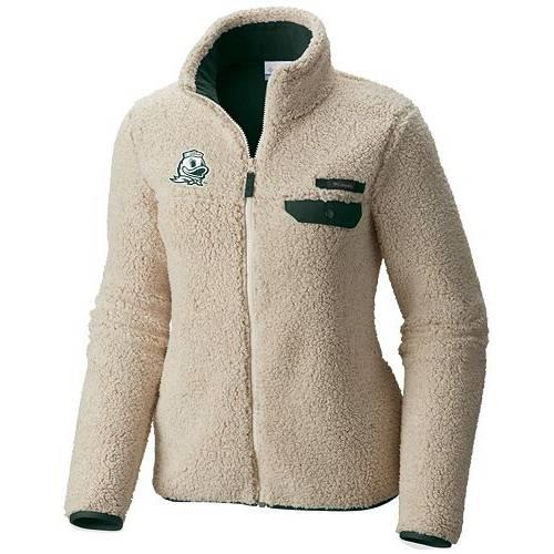 【★スーパーセール中★ 6/11深夜2時迄】コロンビア COLUMBIA レディース オレゴン 白 ホワイト 【 Womens Oregon Ducks Mountainside Full-zip White Jacket 】 Color