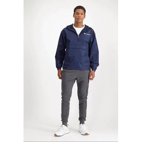 チャンピオン CHAMPION メンズ メンズファッション コート ジャケット 【 Mens Packable Half-zip Jacket 】 Navy