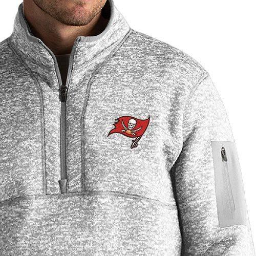 ANTIGUA メンズ バッカニアーズ Gray灰色 グレイ メンズファッション コート ジャケット 【 Mens Tampa Bay Buccaneers Fortune Grey Pullover Jacket 】 Color