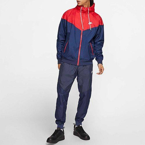 ナイキ NIKE メンズ ウィンドランナー メンズファッション コート ジャケット 【 Mens Sportswear 2019 Hooded Windrunner Jacket (regular And Big And Tall) 】 Mdnght Nvy/unvrsty Rd/wte