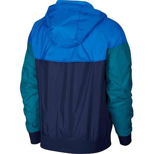 ナイキ NIKE メンズ ウィンドランナー メンズファッション コート ジャケット 【 Mens Sportswear 2019 Hooded Windrunner Jacket (regular And Big And Tall) 】 Midnight Navy/battle Blue