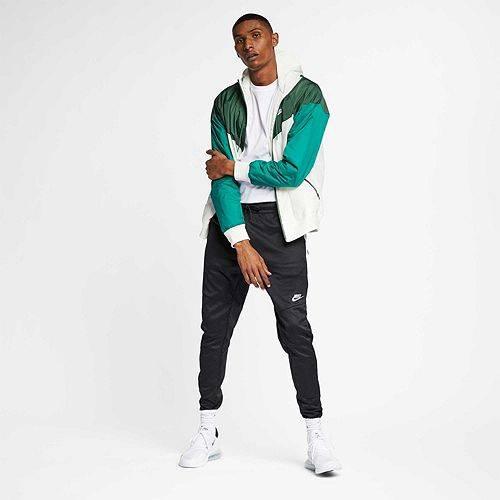 ナイキ NIKE メンズ ウィンドランナー メンズファッション コート ジャケット 【 Mens Sportswear 2019 Hooded Windrunner Jacket (regular And Big And Tall) 】 Sail/fir/mystic Green/sal