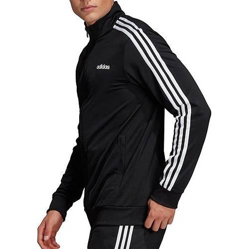 アディダス ADIDAS メンズ トラック メンズファッション コート ジャケット 【 Mens Essentials 3-stripes Tricot Track Jacket (regular And Big And Tall) 】 Black/white