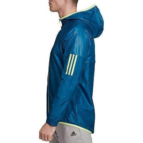 アディダス ADIDAS メンズ ストリート ウィンドブレーカー メンズファッション コート ジャケット 【 Mens Sport 2 Street Windbreaker Jacket 】 Legend Marine/hi Res Yel