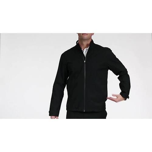 WALTER HAGEN メンズ ゴルフ メンズファッション コート ジャケット 【 Mens Full-zip Golf Rain Jacket 】 Black