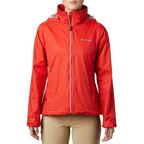 【★スーパーセール中★ 6/11深夜2時迄】コロンビア COLUMBIA レディース 【 Womens Switchback Iii Printed Rain Jacket 】 Bold Orange Wispy Bamboo