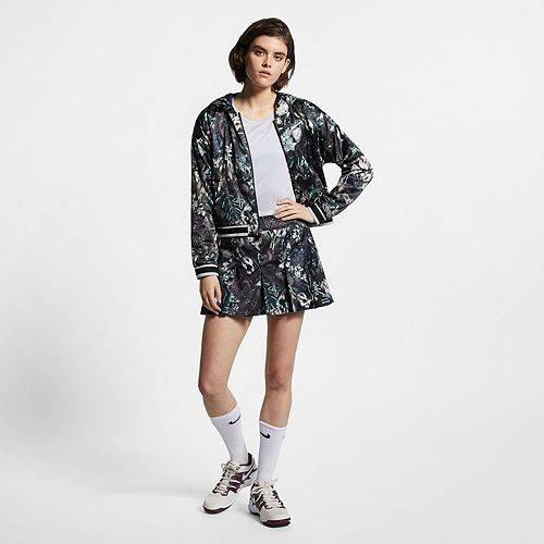 ナイキ NIKE レディース ドライフィット テニス 【 Womens Dri-fit Tennis Floral Printed Jacket 】 Black