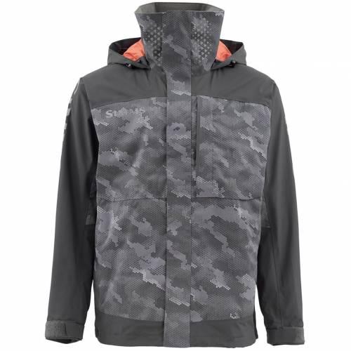 SIMMS メンズ メンズファッション コート ジャケット 【 Mens Challenger Fishing Jacket (regular And Big And Tall) 】 Hex Camo Storm