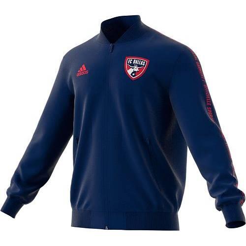 アディダス ADIDAS メンズ ダラス 紺 ネイビー メンズファッション コート ジャケット 【 Mens Fc Dallas Anthem Navy Full-zip Jacket 】 Color