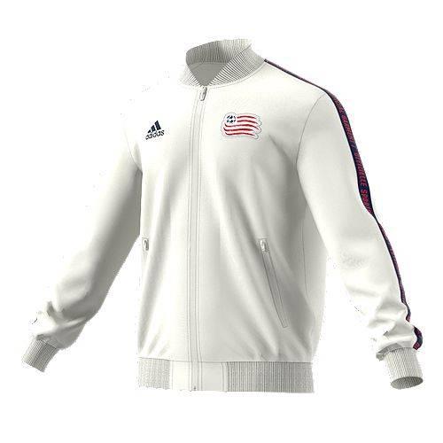 アディダス ADIDAS メンズ 白 ホワイト メンズファッション コート ジャケット 【 Mens New England Revolution Anthem White Full-zip Jacket 】 Color