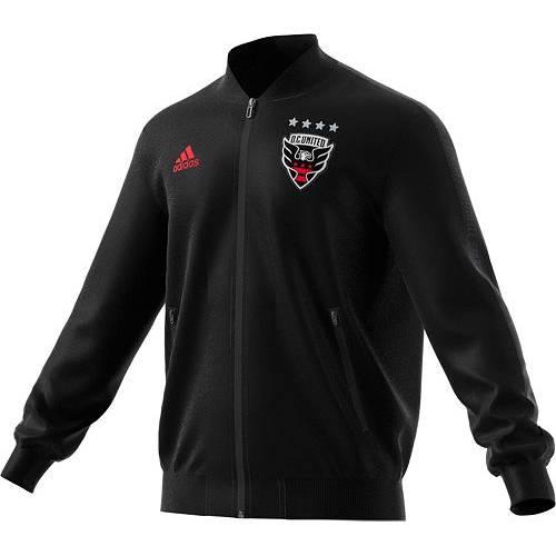アディダス ADIDAS メンズ 黒 ブラック D.c. メンズファッション コート ジャケット 【 Mens D.c. United Anthem Black Full-zip Jacket 】 Color