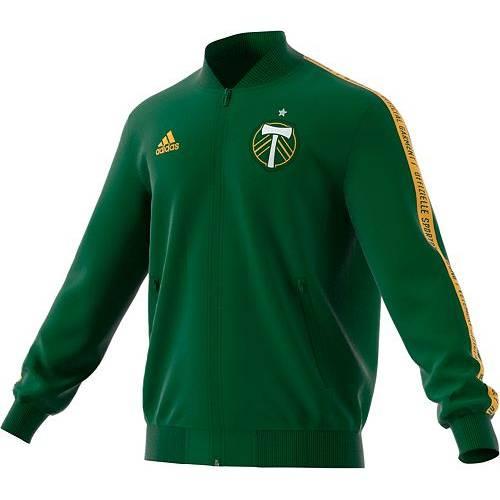 アディダス ADIDAS メンズ ポートランド 緑 グリーン メンズファッション コート ジャケット 【 Mens Portland Timbers Anthem Green Full-zip Jacket 】 Color