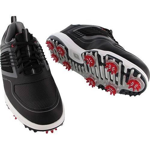FOOTJOY ゴルフ スニーカー 運動靴 黒 ブラック 赤 レッド MEN'S スニーカー 【 GOLF BLACK RED FOOTJOY FURY SHOES 】 メンズ スニーカー