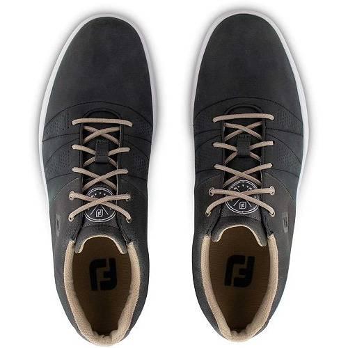 FOOTJOY メンズ ゴルフ スニーカー 運動靴 【 Mens Contour Casual Golf Shoes 】 Charcoal