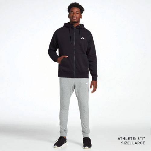 ナイキ NIKE メンズ クラブ フリース メンズファッション トップス パーカー 【 Mens Sportswear Club Fleece Hoodie (regular And Big And Tall) 】 Black/black/white