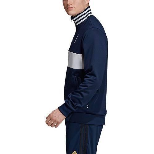 アディダス ADIDAS メンズ 紺 ネイビー トラック メンズファッション コート ジャケット 【 Mens Real Madrid 3-stripe Navy Track Jacket 】 Color