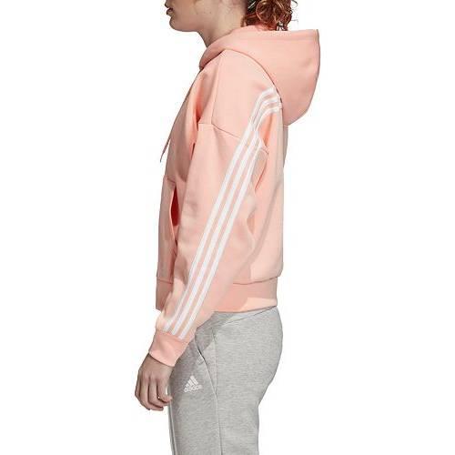 アディダス ADIDAS レディース レディースファッション トップス パーカー 【 Womens Must Have 3-stripes Full Zip Hoodie 】 Glow Pink/white