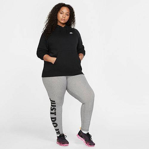 ナイキ NIKE レディース フリース レディースファッション トップス パーカー 【 Womens Plus Size Sportswear Essential Fleece Pullover Hoodie 】 Black