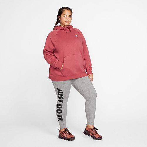 ナイキ NIKE レディース フリース レディースファッション トップス パーカー 【 Womens Plus Size Sportswear Essential Fleece Pullover Hoodie 】 Cedar