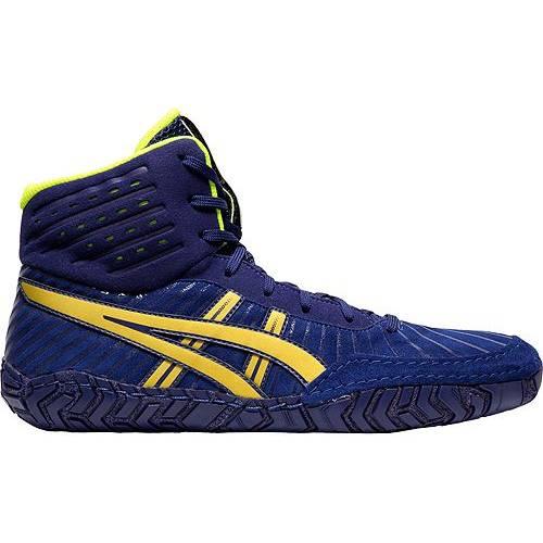アシックス ASICS メンズ スニーカー 運動靴 【 Mens Aggressor 4 Wrestling Shoes 】 Blue/gold