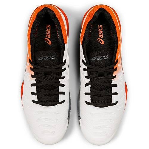 アシックス ASICS メンズ テニス スニーカー 運動靴 【 Mens Gel-resolution 7 Tennis Shoes 】 White/orange