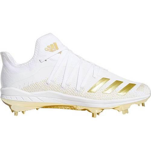 アディダス ADIDAS メンズ アディゼロ メタル ベースボール スニーカー 【 Mens Adizero Afterburner 6 Gold Metal Baseball Cleats 】 White/gold