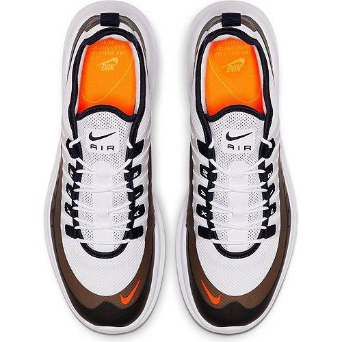 ナイキ NIKE エア マックス スニーカー 運動靴 白 ホワイト 橙 オレンジ MEN'S スニーカー 【 AIR WHITE ORANGE NIKE MAX AXIS SHOES 】 メンズ スニーカー