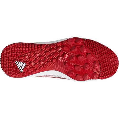 アディダス ADIDAS アイコン ベースボール ターフ スニーカー 運動靴 赤 レッド 白 ホワイト MEN'S スニーカー 【 RED WHITE ADIDAS ICON V TF BASEBALL TURF SHOES 】 メンズ スニーカー